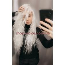Перука на сітці молочний блонд довга Lace Wig Bess тон 60