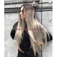 Перука на сітці попелястий блонд довга Lace Wig Allure тон Streel омбре термостійка