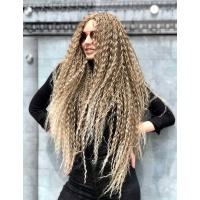 Парик на сетке светло-русый блонд длинный Lace Wig Curl тон 12/613 омбре