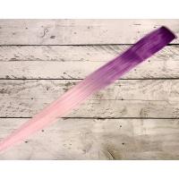 Прядь сиреневая/светло-розового цвета омбре № PM2 термостойкая